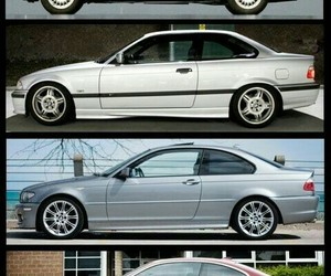 bmw, car, and difference image