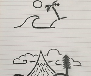 art, beach, and doodle image