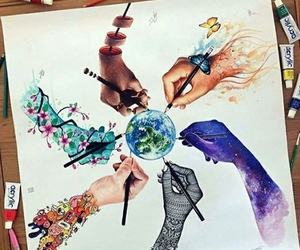 art, drawing, and earth image
