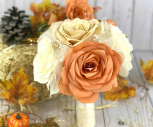 etsy, paper bouquet, and fall wedding image