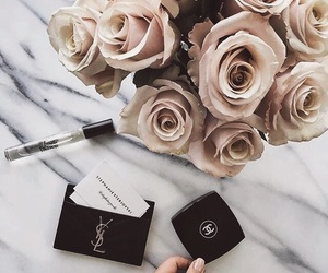 flowers, rose, and chanel image