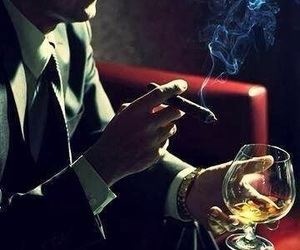 cigar, sexy, and smoke image