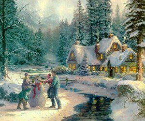 children, christmas tree, and family image