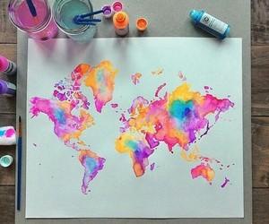 world, art, and paint image