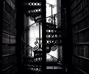 black, stairs, and black and white image