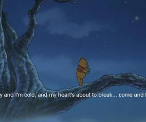 winnie the pooh, sad, and quotes image
