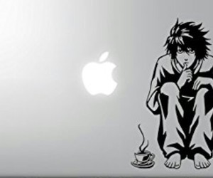 anime, apple, and death note image
