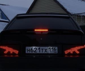 car, dark, and gun image