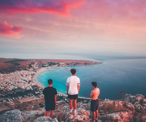 boys, ocean, and photography image