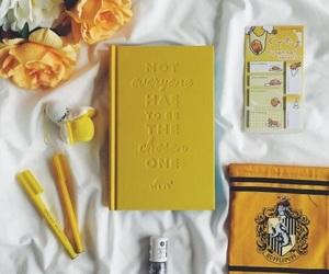 yellow, flowers, and hufflepuff image