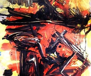 Abstract Painting, american painter, and american art image