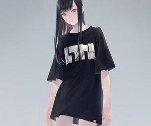 anime and black image