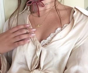 bralette, fashion, and nails image