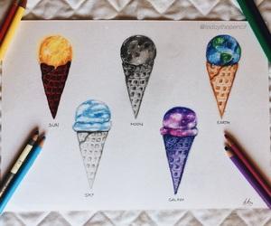 art, drawing, and fall image