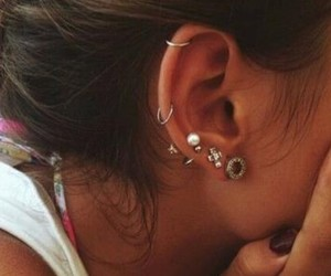 ear, piercing, and prisma image