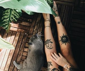 tattoo, cat, and indie image