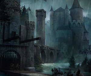castle, dark, and fantasy image