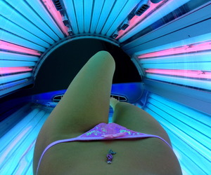 girl, tan, and tanning image