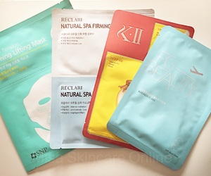 sheet masks, skincare products, and skincare routine image