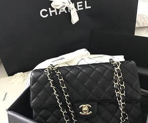 babe, black, and chanel image