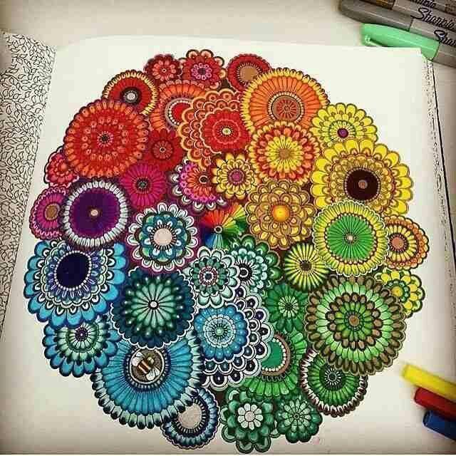 colors, mandala, and art image