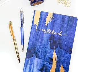 blue, fashion, and notebook image