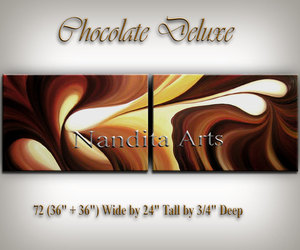 dark brown, painting on canvas, and large wall art image