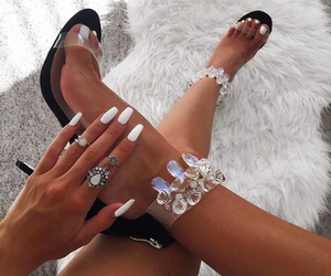 fashion, high heels, and rings image