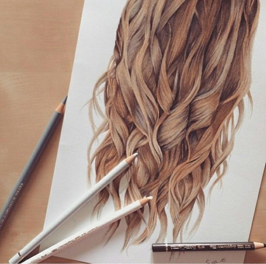 отъезда картинки как рисовать волосы в цвете данный
