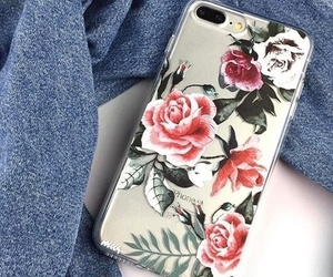 case, flowers, and phone image
