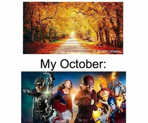 arrow, october, and season image