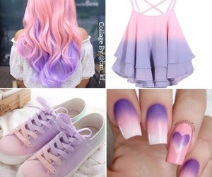dress, look, and nails image