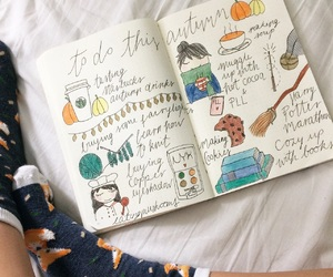 autumnal, doodles, and fall image