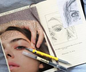 art, sketch, and journal image