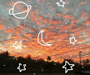 aesthetic, space, and orange image