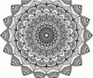 art, mandala, and peace image