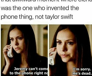 Taylor Swift, the vampire diaries, and elena gilbert image