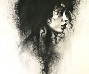 arte, black, and dibujo image