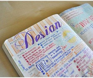 August, journal, and lettering image
