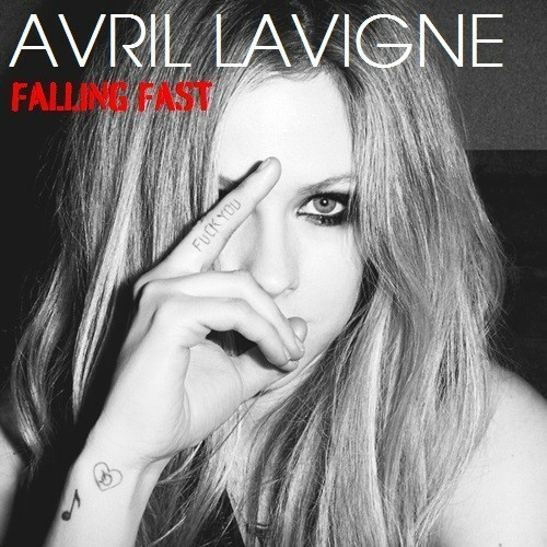 tattoo, Avril Lavigne, and falling fast image