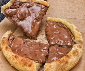 nutella, pizza, and sweet image