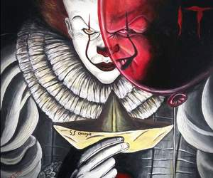 balloon, clown, and horror image