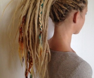 dreadlocks, girl, and blonde image