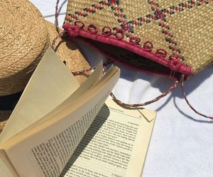 adventure, beach, and book image