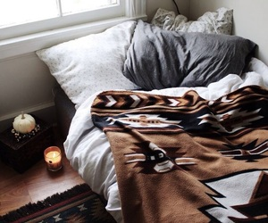 room, bed, and cozy image