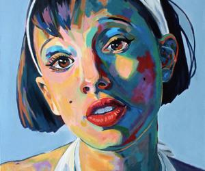 acrylic on canvas, natalie portman, and fan art image