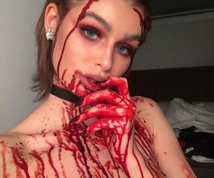 Halloween, makeup, and blood image