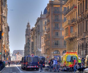 city, architecture, and Barcelona image
