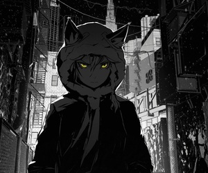 cool, dark, and anime boy image