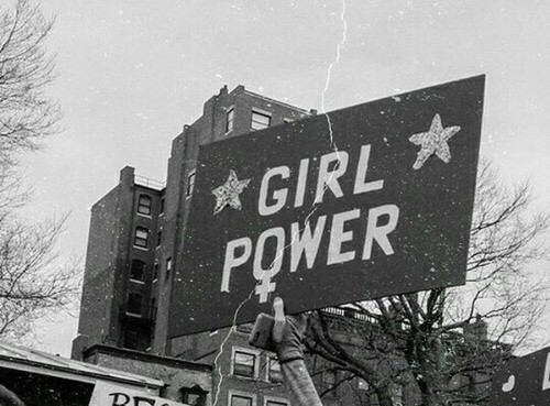 feminism, girl power, and black and white image